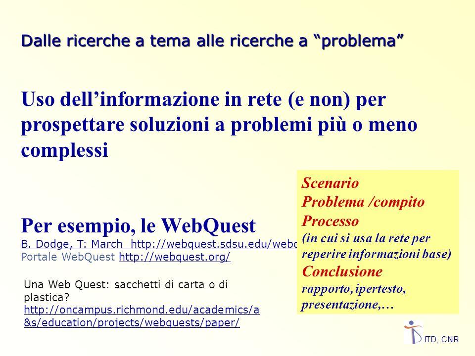 Per esempio, le WebQuest