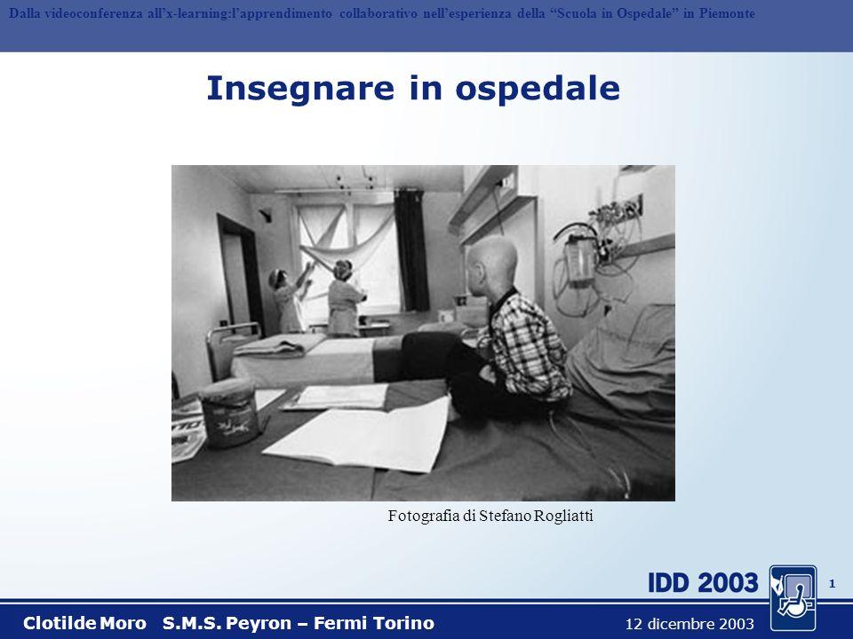 Insegnare in ospedale Fotografia di Stefano Rogliatti