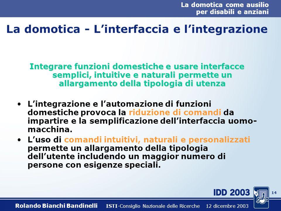 La domotica - L'interfaccia e l'integrazione