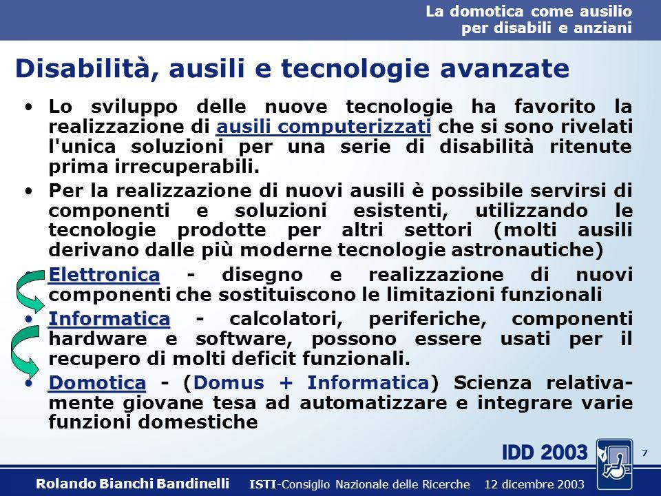 Disabilità, ausili e tecnologie avanzate