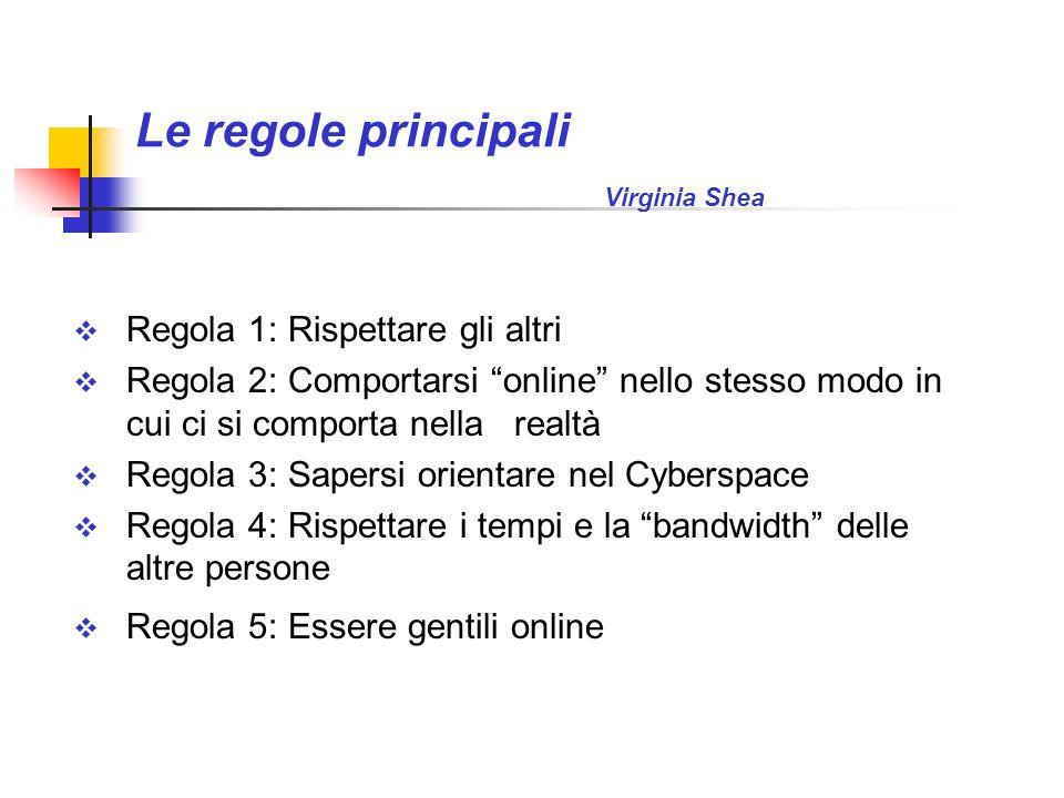 Le regole principali Virginia Shea