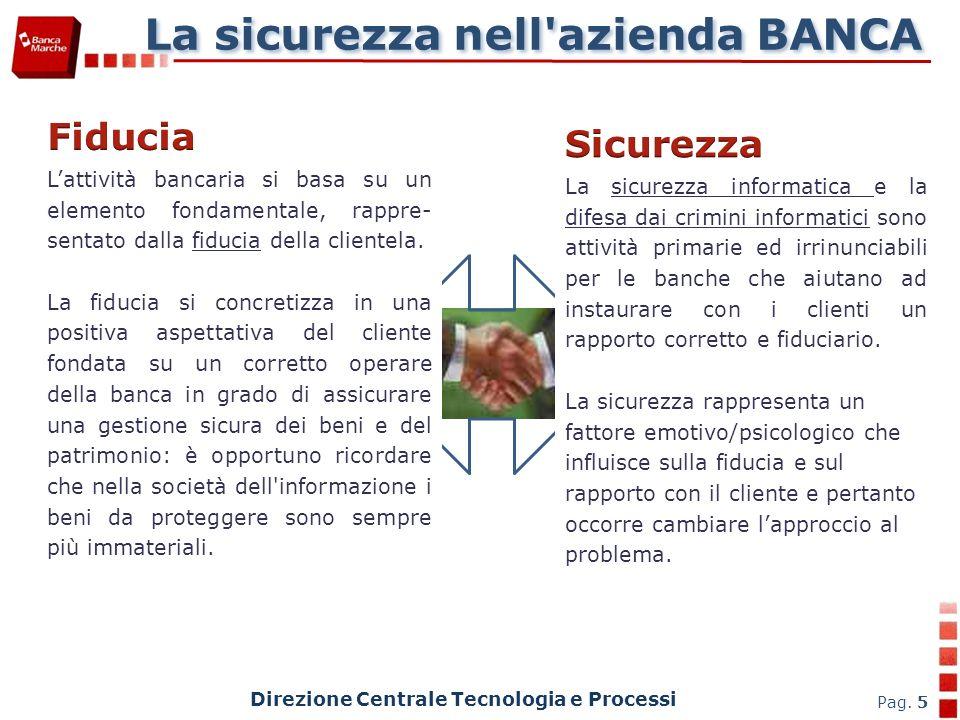 La sicurezza nell azienda BANCA