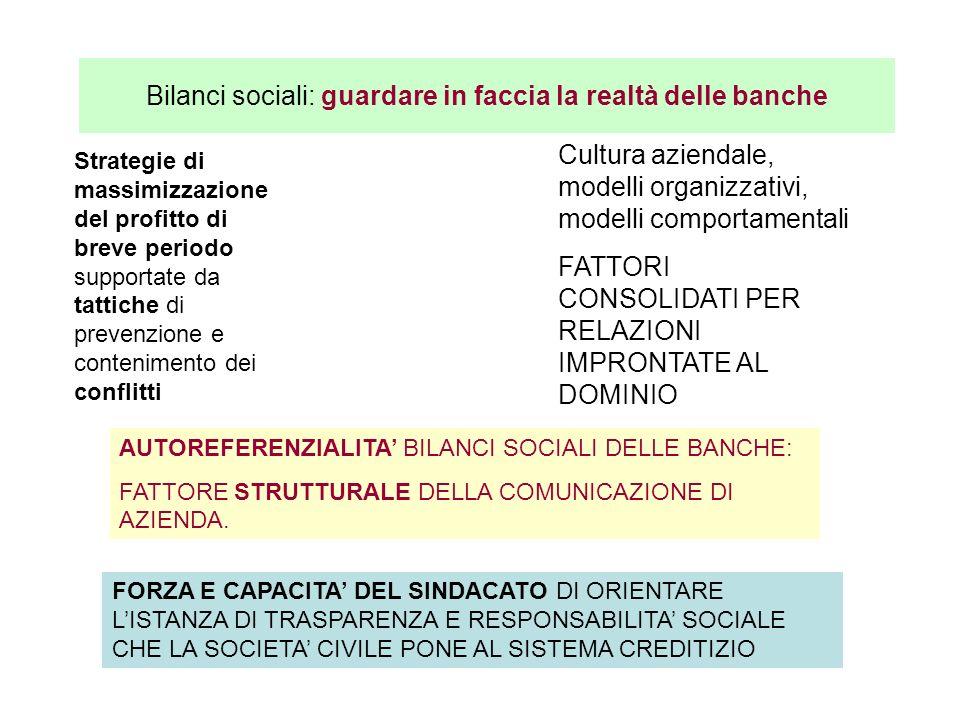 Bilanci sociali: guardare in faccia la realtà delle banche