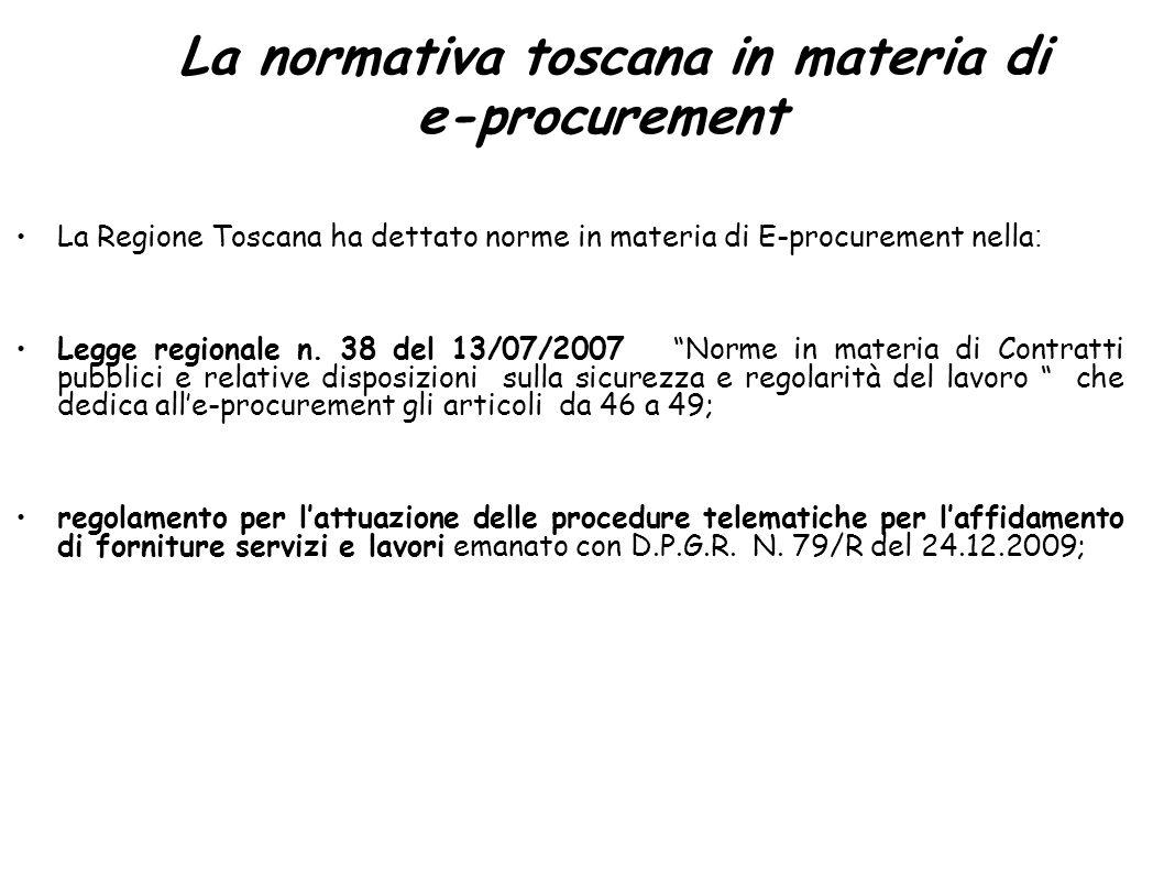 La normativa toscana in materia di e-procurement