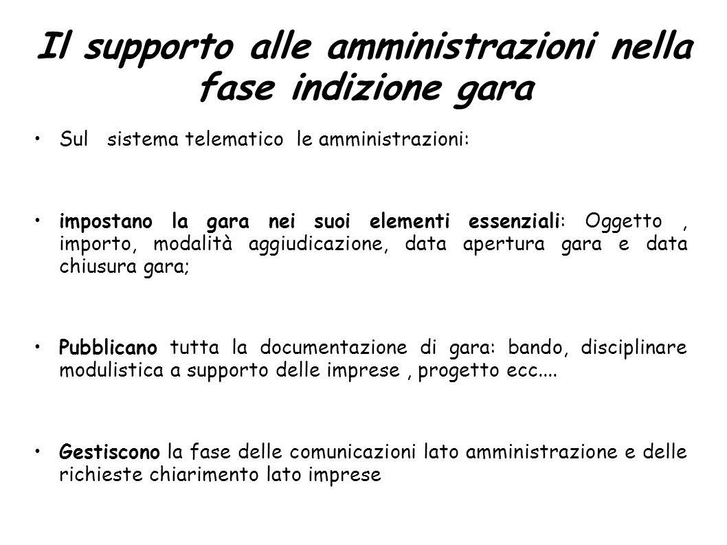 Il supporto alle amministrazioni nella fase indizione gara