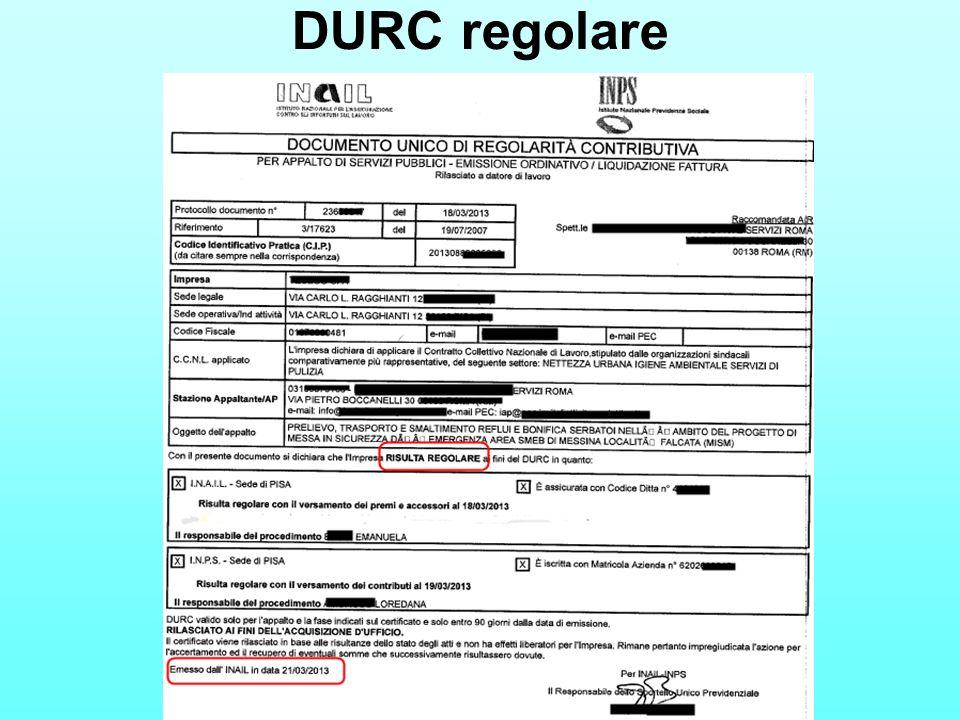 DURC regolare