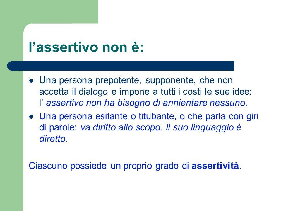 l'assertivo non è: