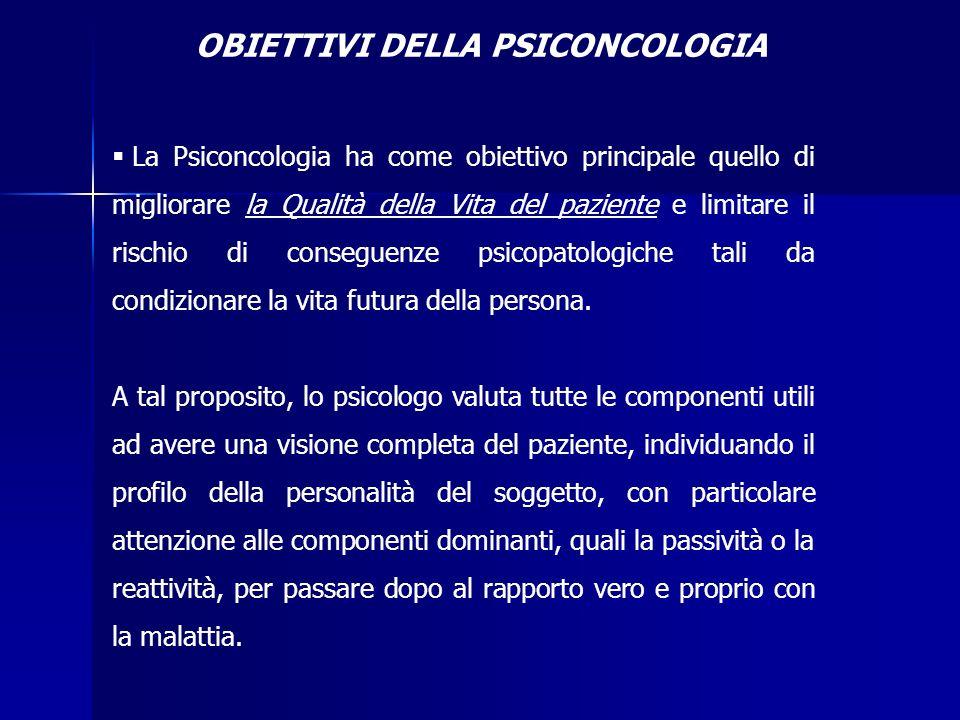 OBIETTIVI DELLA PSICONCOLOGIA