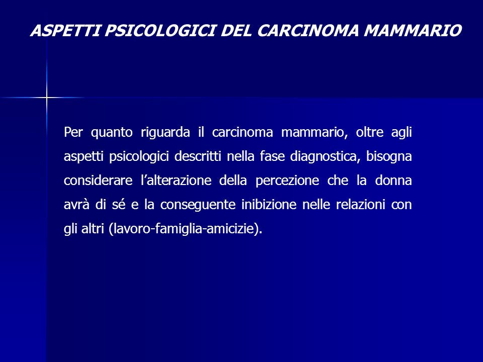 ASPETTI PSICOLOGICI DEL CARCINOMA MAMMARIO