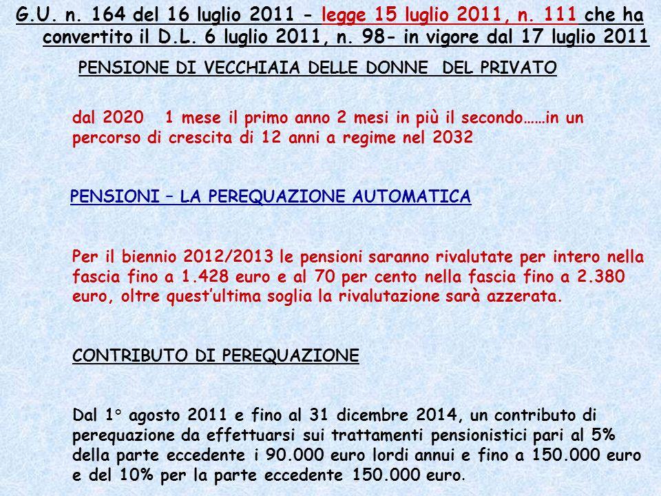 G. U. n. 164 del 16 luglio 2011 - legge 15 luglio 2011, n