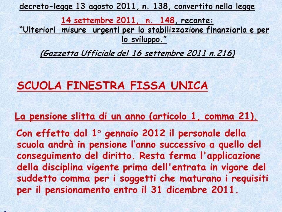 . decreto-legge 13 agosto 2011, n. 138, convertito nella legge
