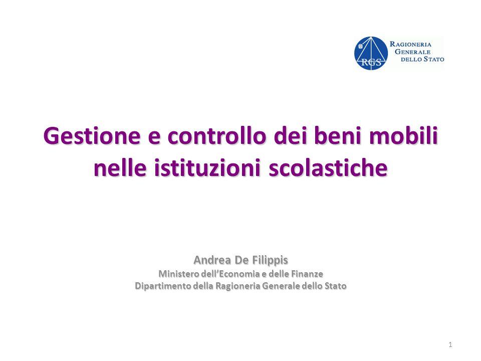 Gestione e controllo dei beni mobili nelle istituzioni scolastiche