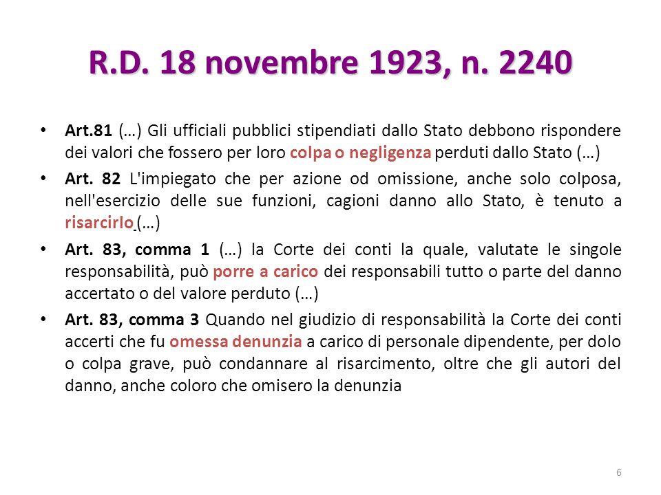 R.D. 18 novembre 1923, n. 2240