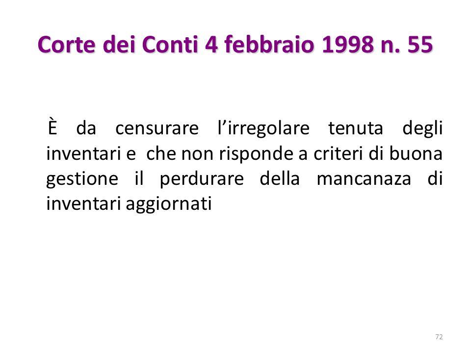 Corte dei Conti 4 febbraio 1998 n. 55