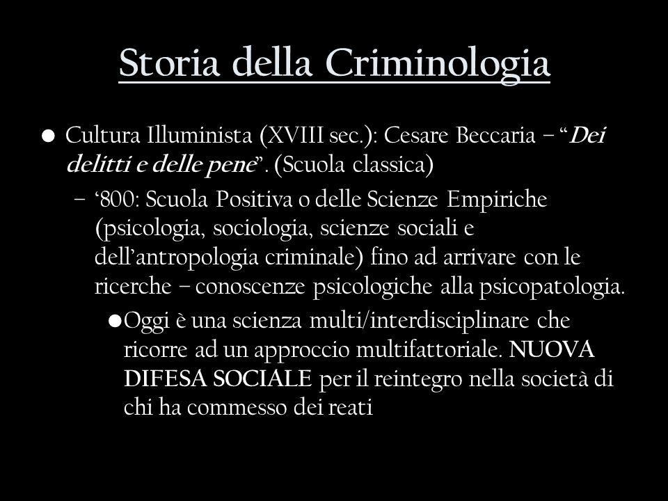 Storia della Criminologia