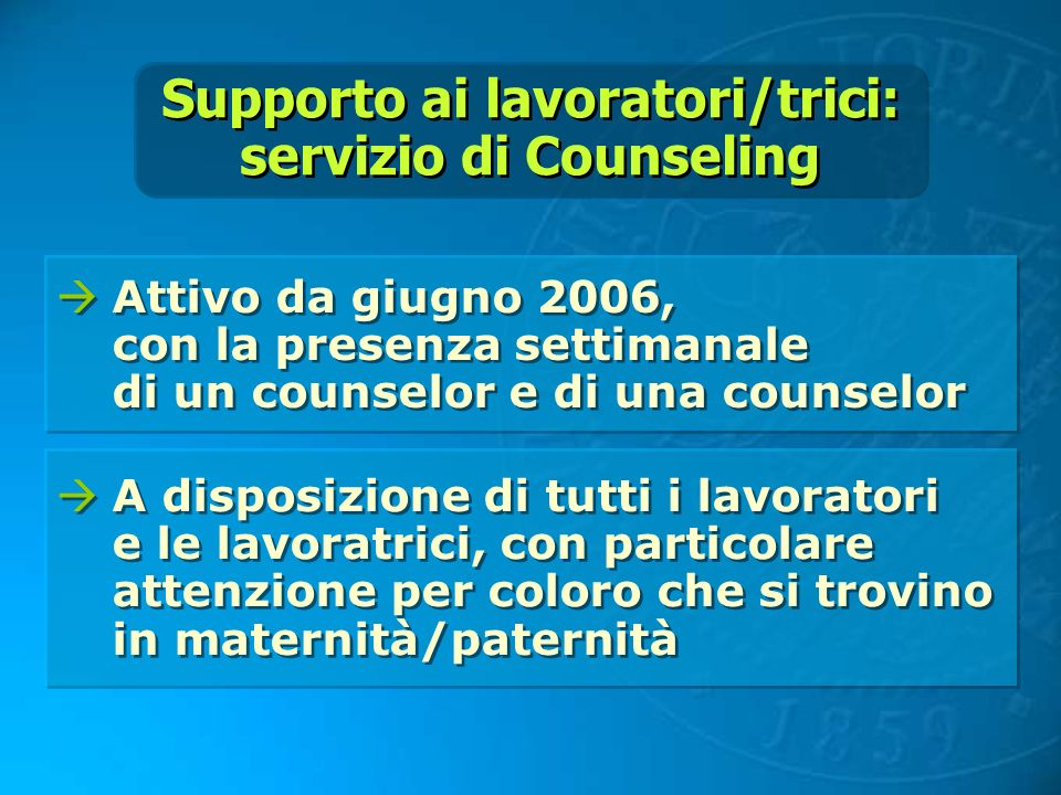 Supporto ai lavoratori/trici: servizio di Counseling