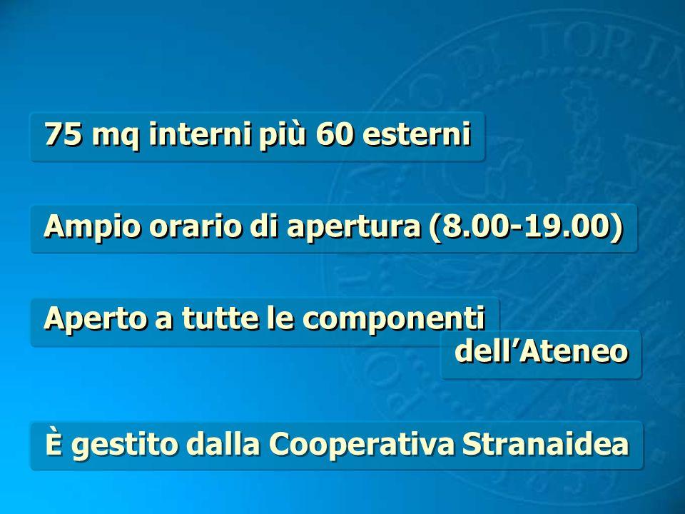 Ampio orario di apertura (8.00-19.00)