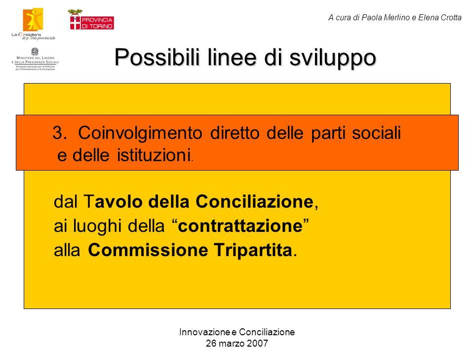 Innovazione e Conciliazione