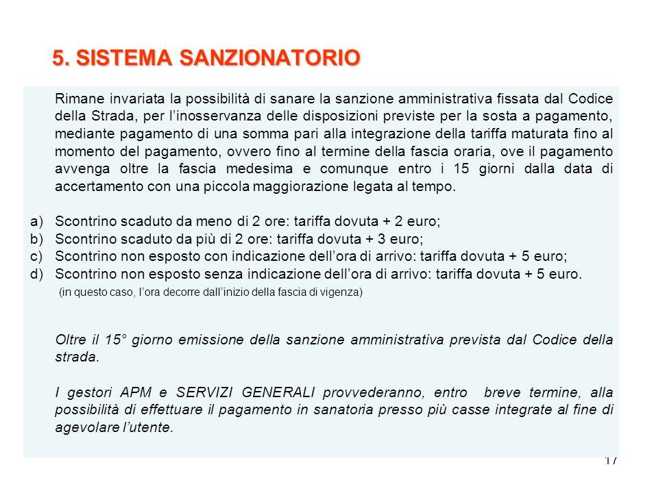 5. SISTEMA SANZIONATORIO