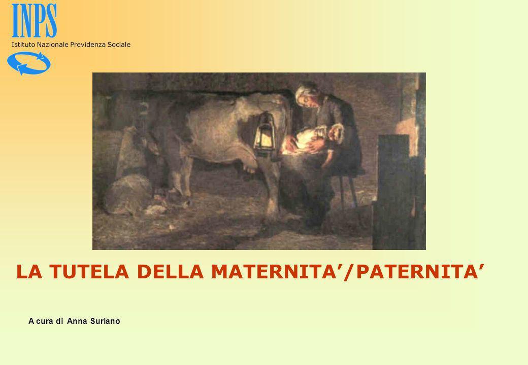 LA TUTELA DELLA MATERNITA'/PATERNITA'