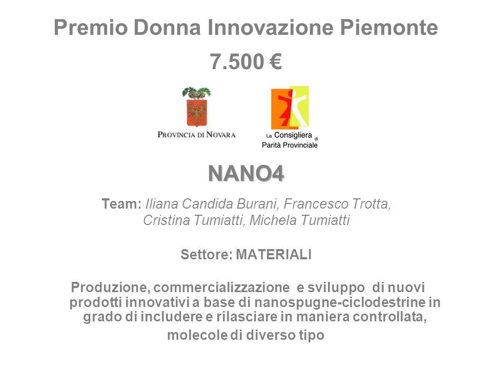 Premio Donna Innovazione Piemonte molecole di diverso tipo