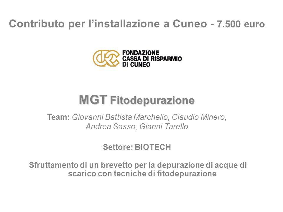 Contributo per l'installazione a Cuneo - 7.500 euro
