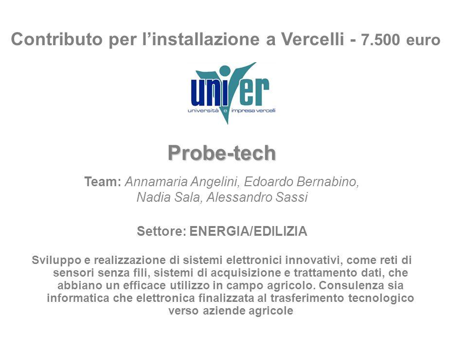 Contributo per l'installazione a Vercelli - 7.500 euro