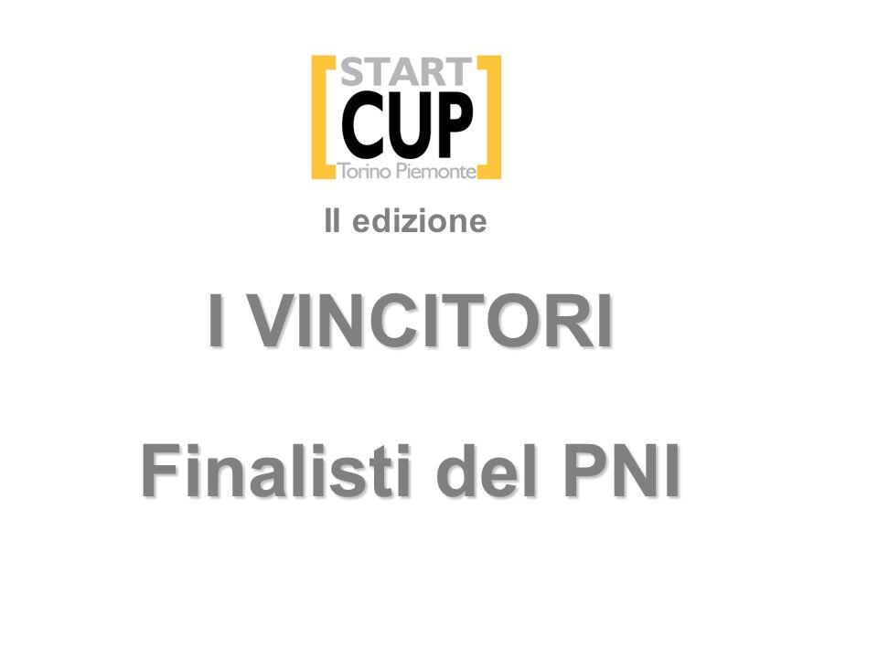 I VINCITORI Finalisti del PNI