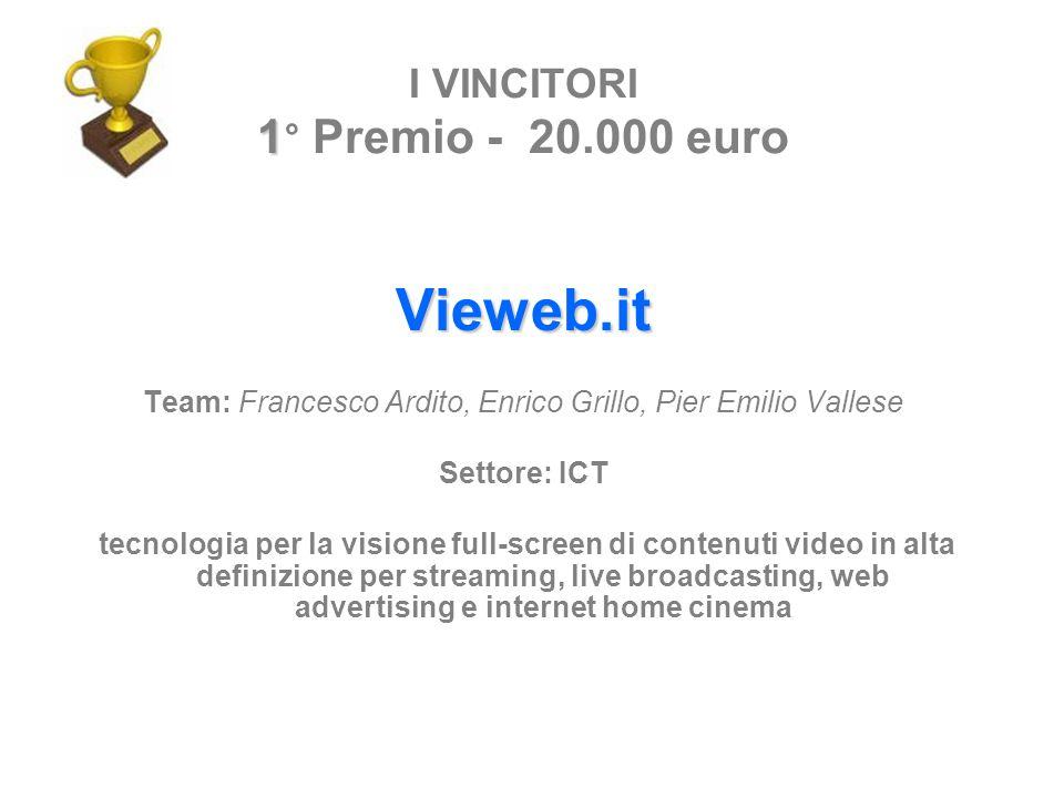 I VINCITORI 1° Premio - 20.000 euro