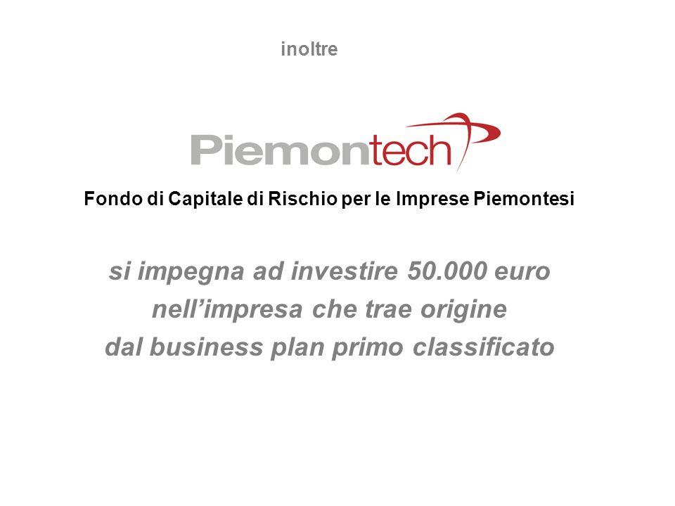 si impegna ad investire 50.000 euro nell'impresa che trae origine