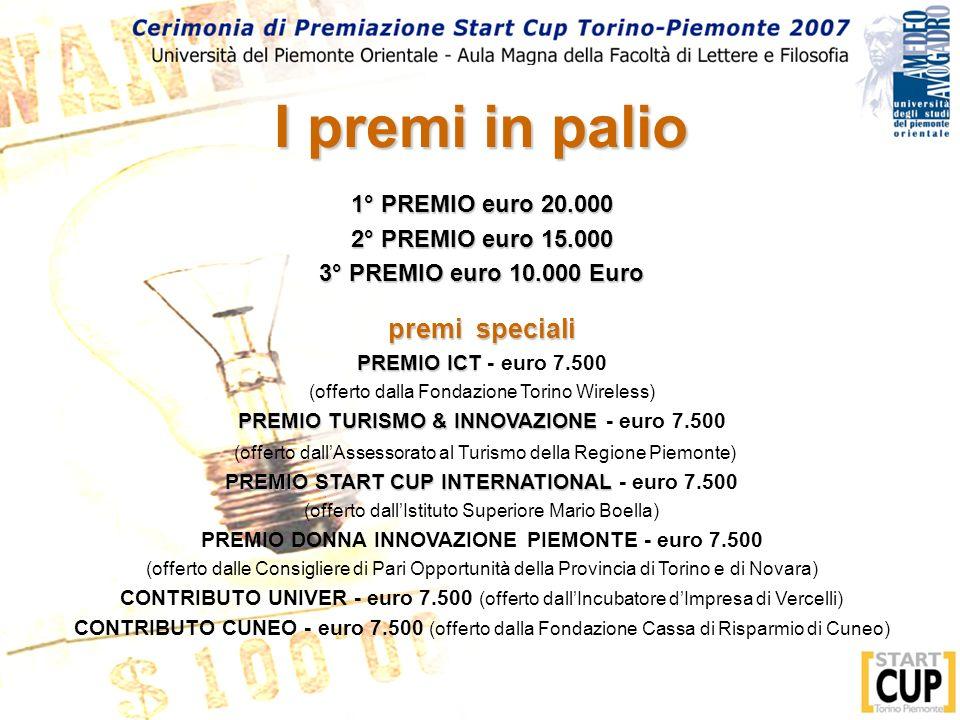I premi in palio premi speciali 1° PREMIO euro 20.000