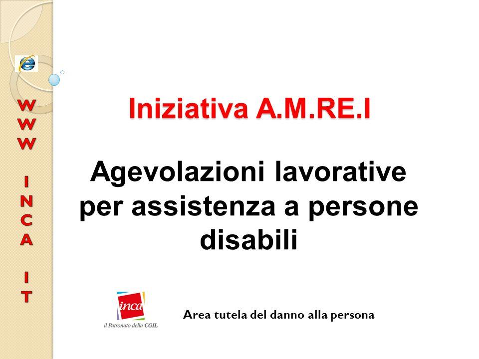 Agevolazioni lavorative per assistenza a persone disabili