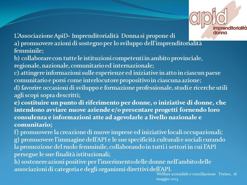 L'Associazione ApiD- Imprenditorialità Donna si propone di