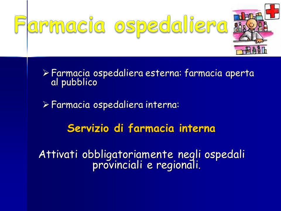 Servizio di farmacia interna