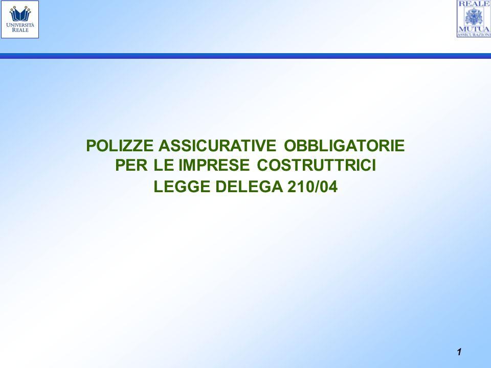 POLIZZE ASSICURATIVE OBBLIGATORIE PER LE IMPRESE COSTRUTTRICI