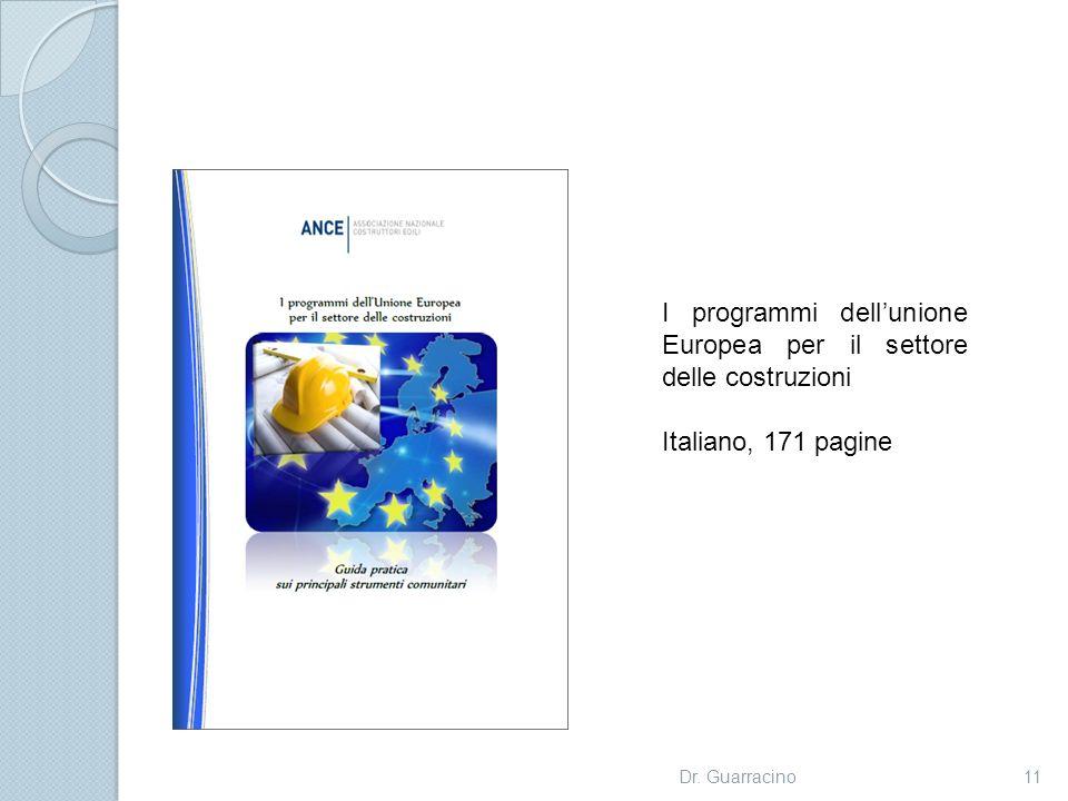I programmi dell'unione Europea per il settore delle costruzioni