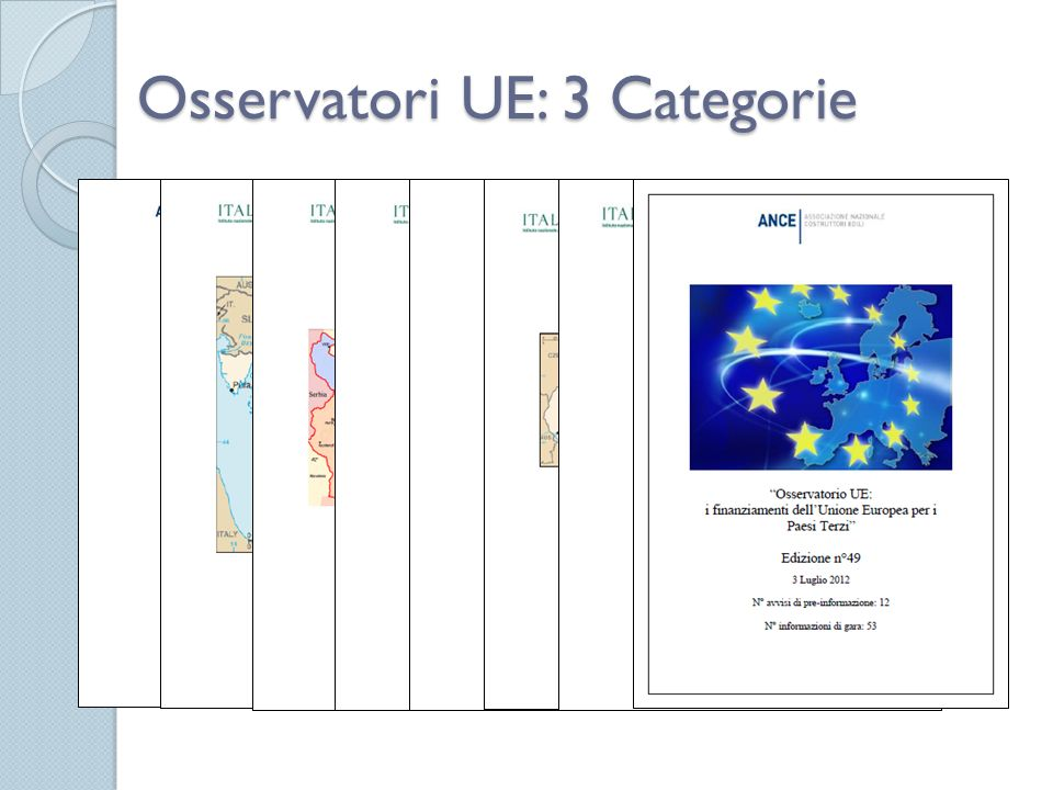 Osservatori UE: 3 Categorie