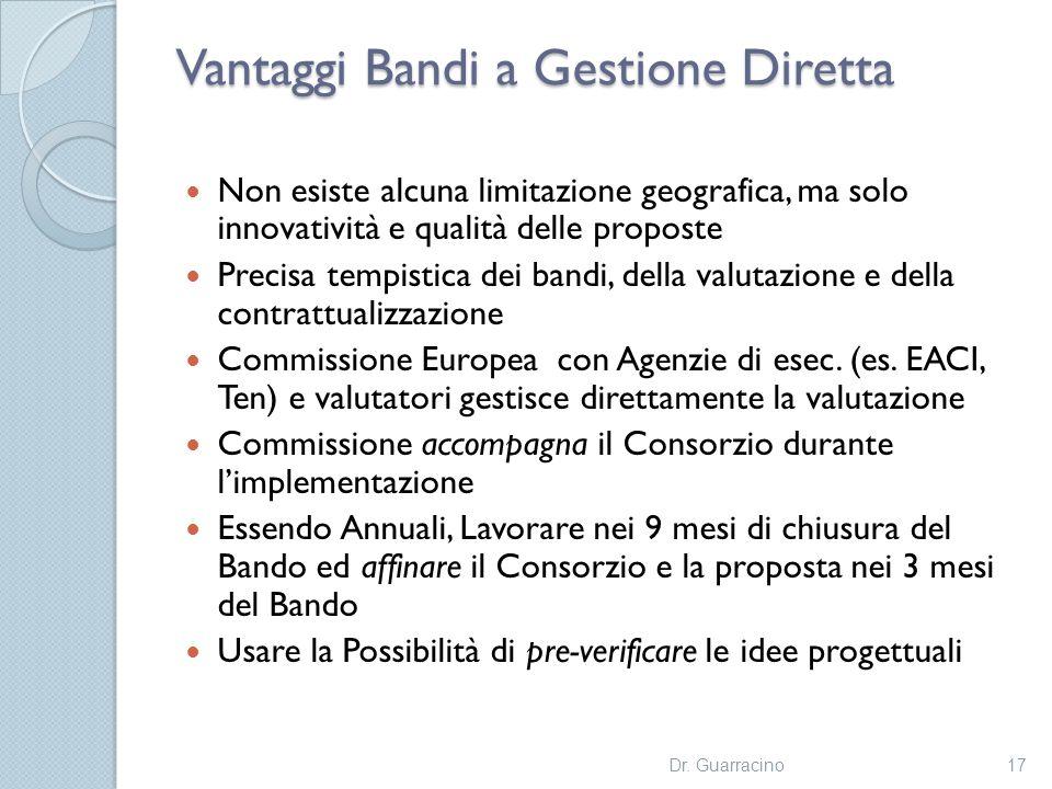 Vantaggi Bandi a Gestione Diretta
