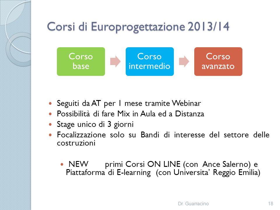Corsi di Europrogettazione 2013/14