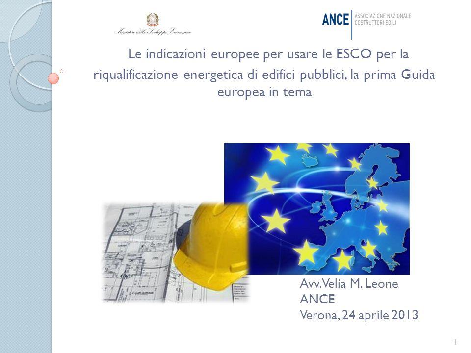 Le indicazioni europee per usare le ESCO per la riqualificazione energetica di edifici pubblici, la prima Guida europea in tema