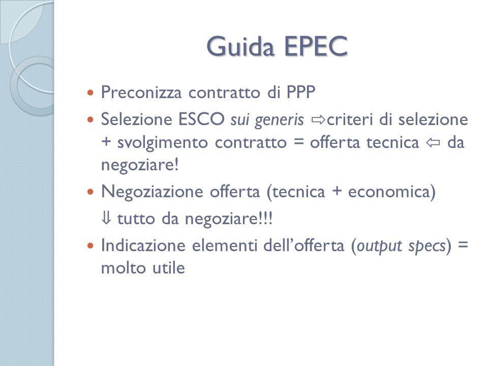 Guida EPEC Preconizza contratto di PPP