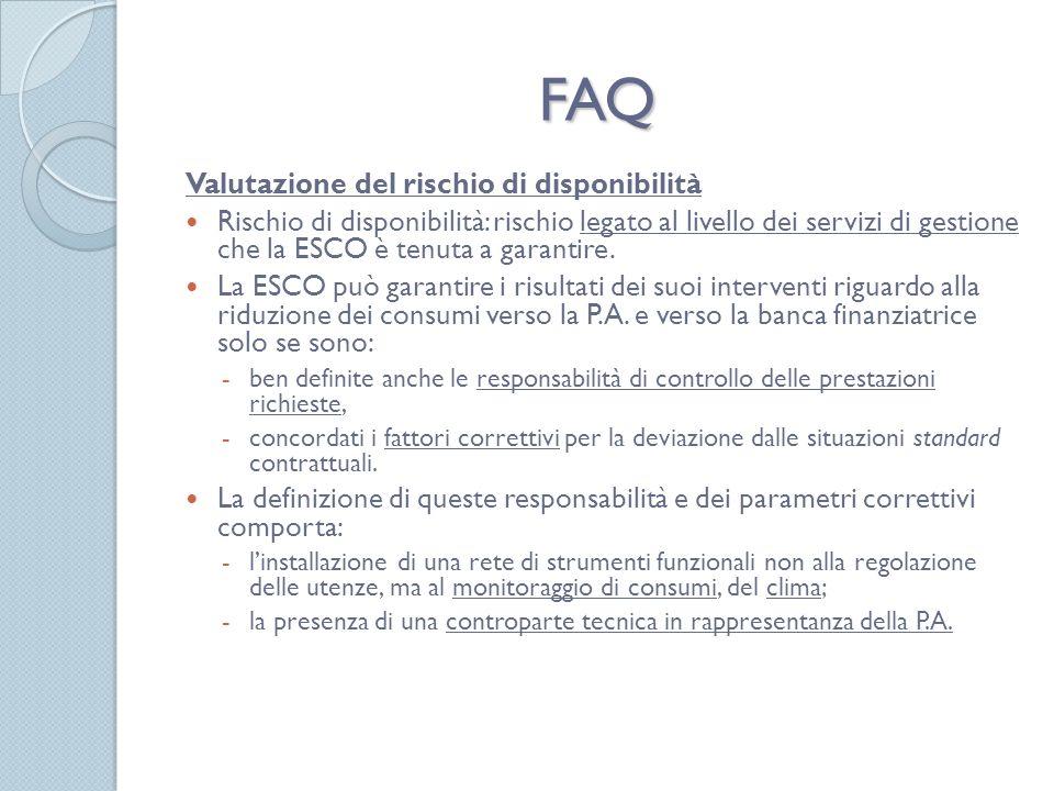 FAQ Valutazione del rischio di disponibilità