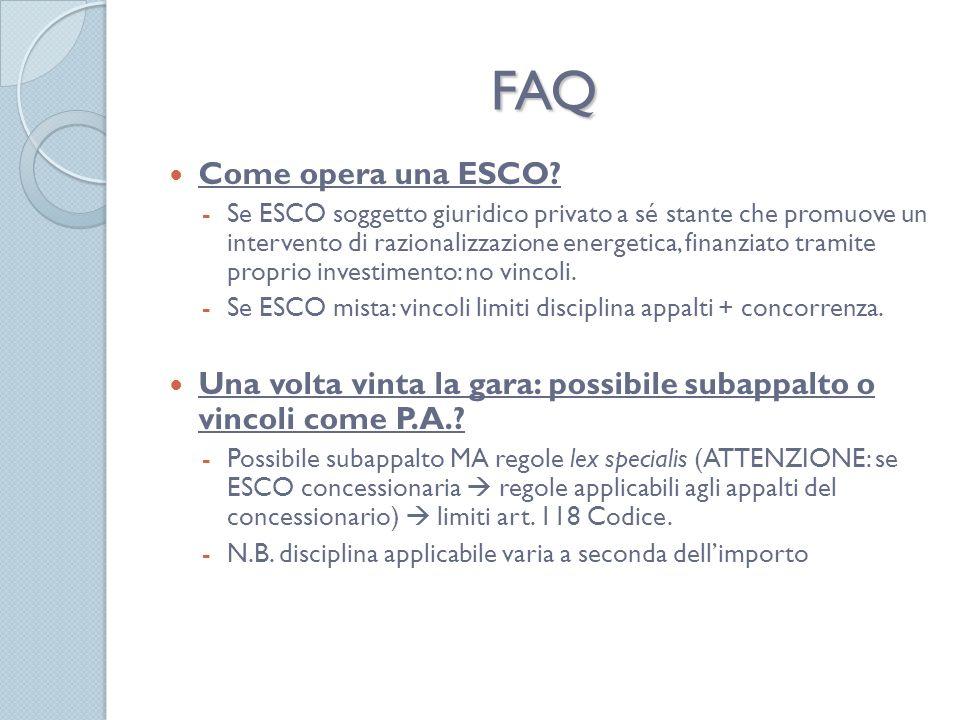 FAQ Come opera una ESCO