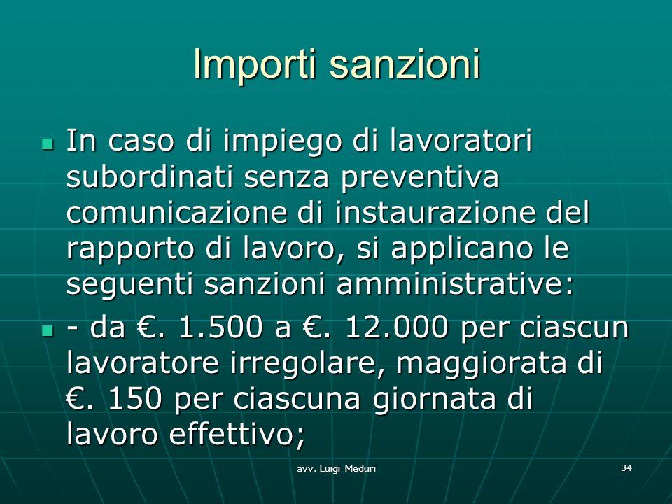 Importi sanzioni