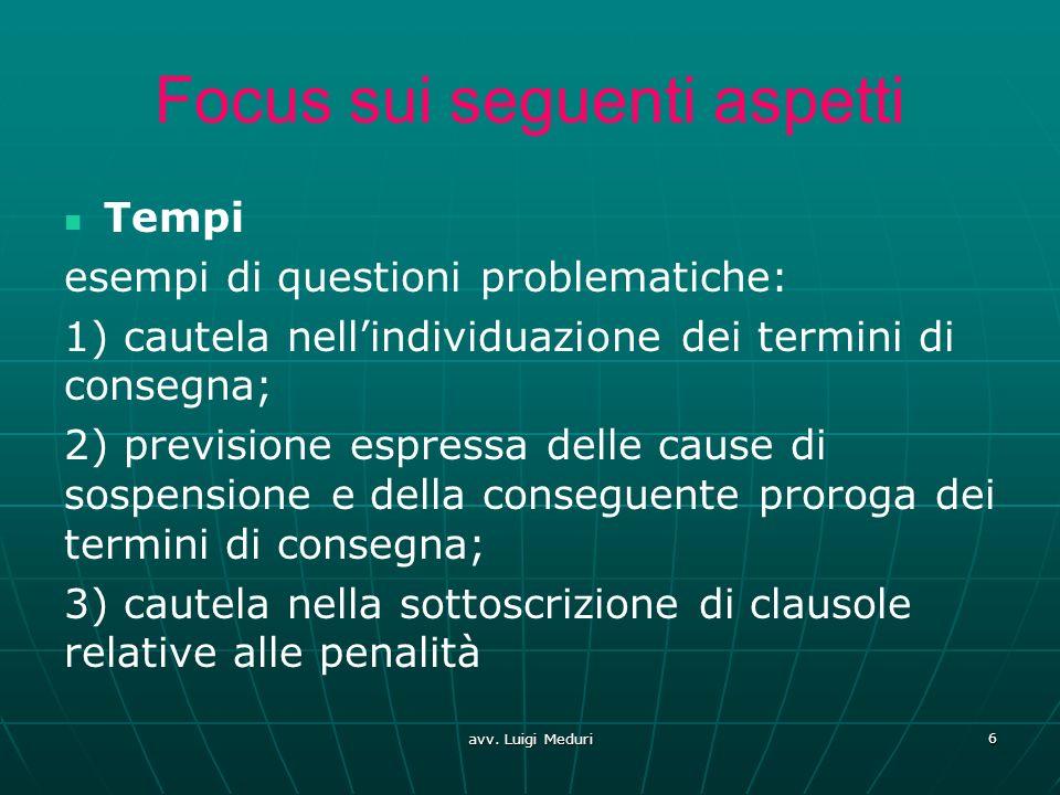 Focus sui seguenti aspetti