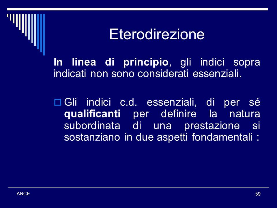 Eterodirezione In linea di principio, gli indici sopra indicati non sono considerati essenziali.