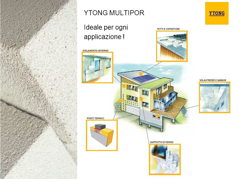 YTONG MULTIPOR Ideale per ogni applicazione !