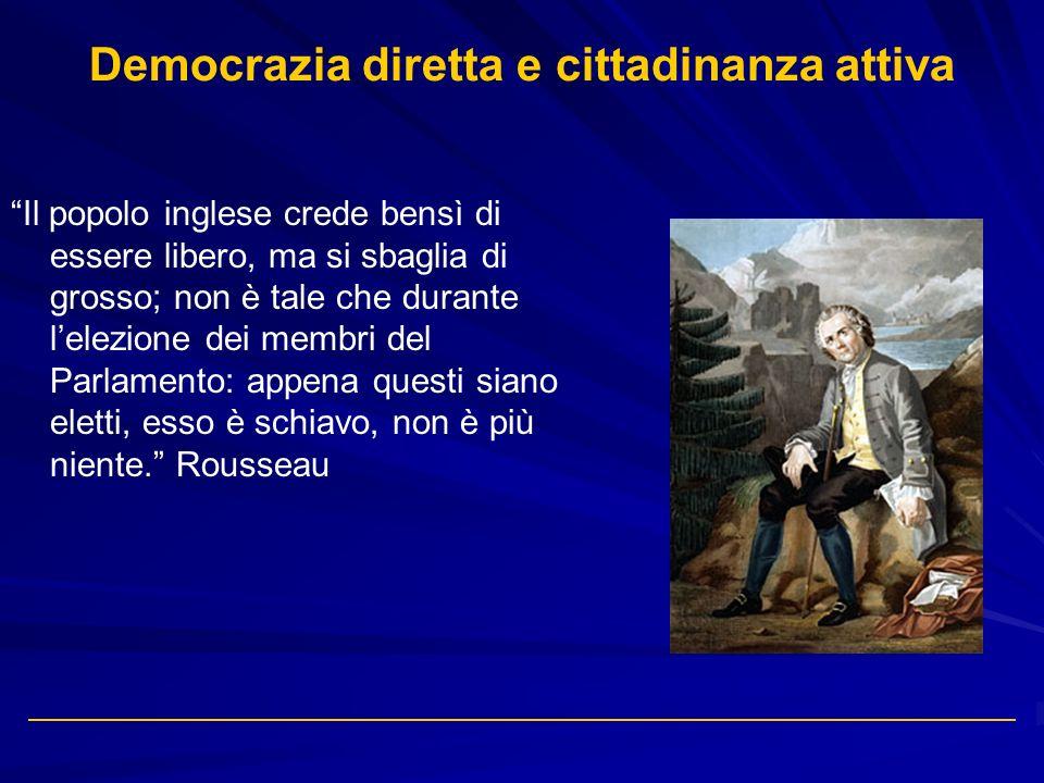 Democrazia diretta e cittadinanza attiva