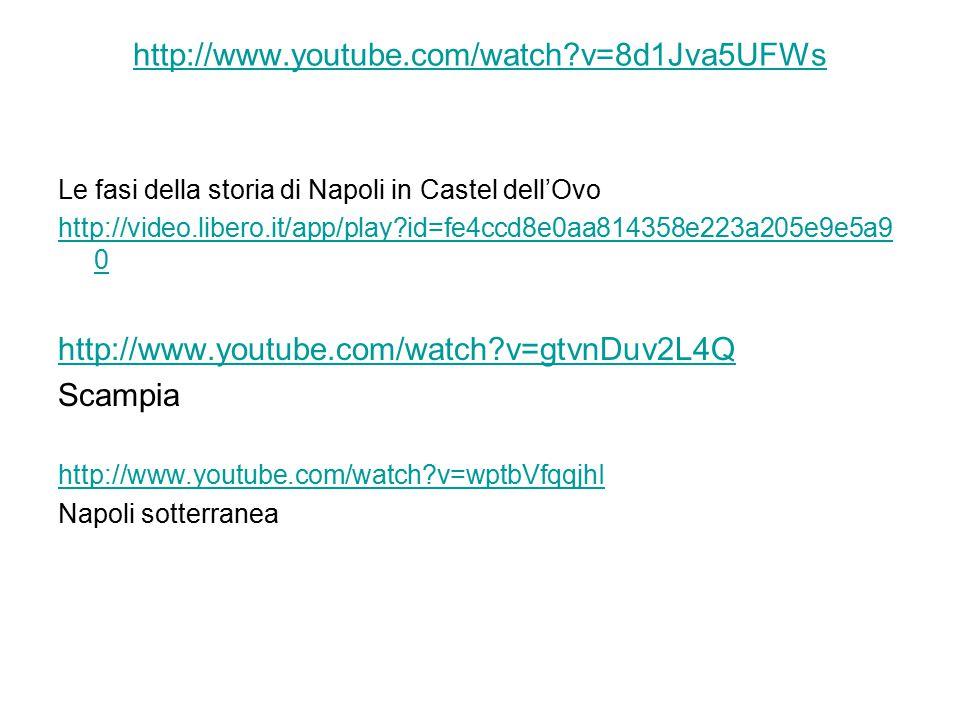 http://www.youtube.com/watch v=8d1Jva5UFWs Le fasi della storia di Napoli in Castel dell'Ovo.