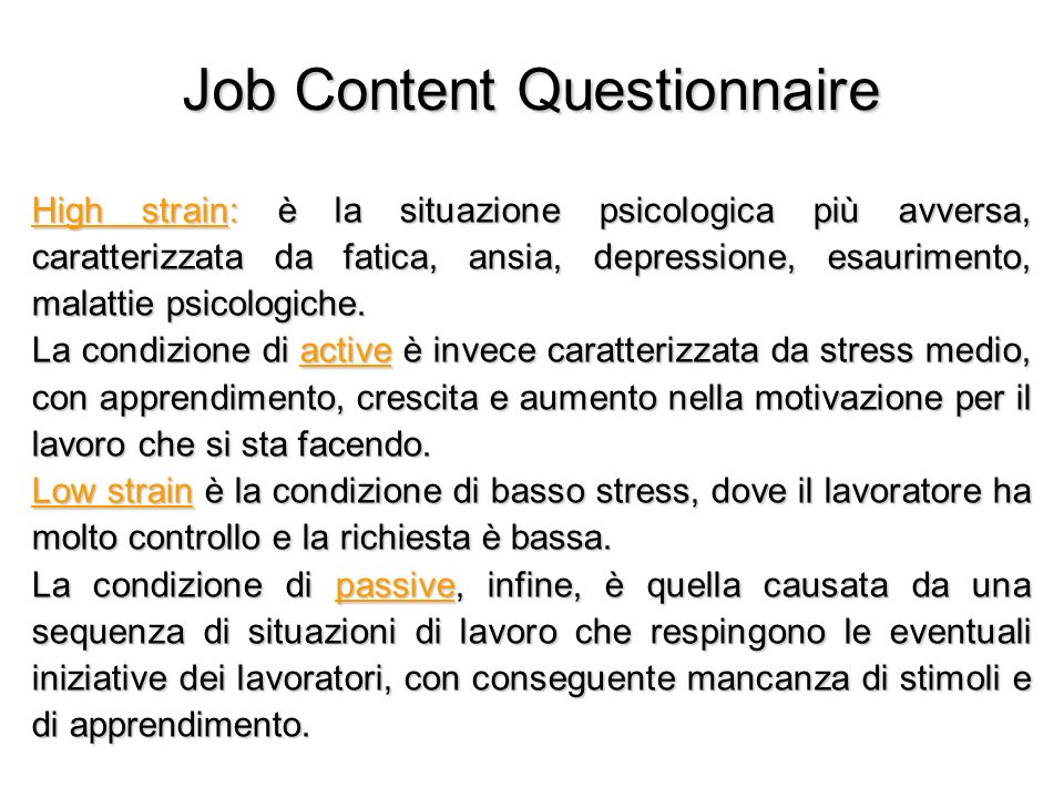 Job Content Questionnaire